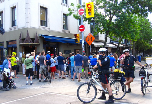 bike cops anticipate rowdy crowds?
