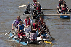 Carmarthen's Annual Raft Race (Malcolm Alce-King) Tags: wales carmarthenshire rivers wfc carmarthen towy cfw towyriver