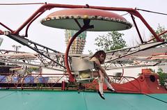 gondolas (yyellowbird) Tags: abandoned girl indiana amusementpark cari gondolas tyjh