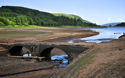Pont yr Daf Revealed By Drought