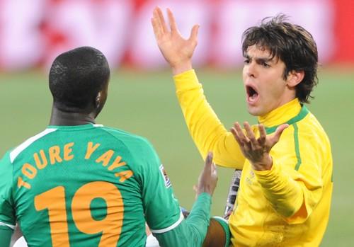 Kaká expulsado MUNDIAL Brasil costa de Marfil