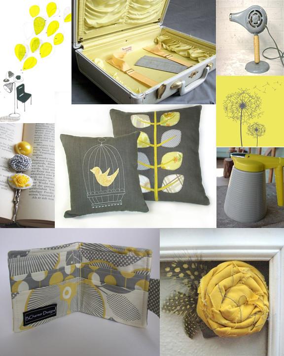 Kitschicagoan Yellow & Grey Mood Board