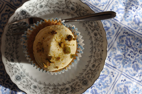 persimmon cupcake from above