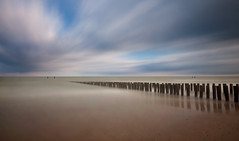 Groynes-VII (DolliaSH) Tags: longexposure sea seascape holland beach strand canon topf50 nederland thenetherlands zeeland zee filter le topf150 topf100 groynes 1755 domburg zeewering canonefs1755mmf28isusm nd110 canoneos50d dollia dollias sheombar dolliash bw10stopsolidndfilter