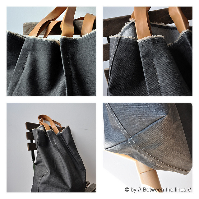 Denim bag tutorial Between The Lines 1
