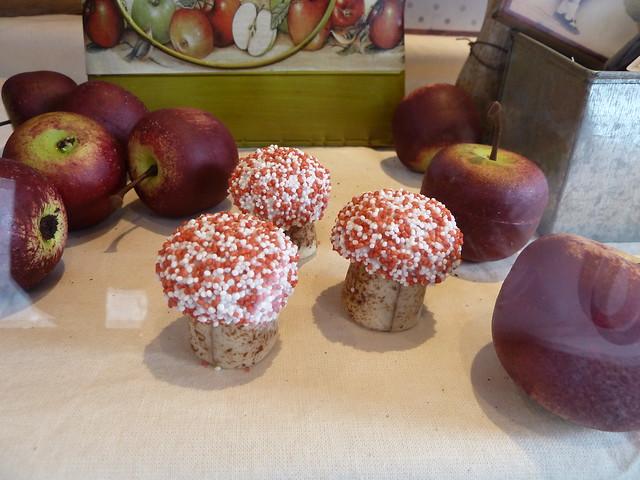 bolets i fruites de la tardor de xocolata