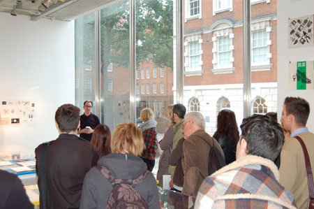 Barney Bubbles exhibition: Kingston students and Paul