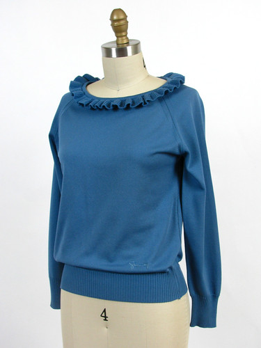 vintage 1980's Givenchy Sport ruffle top