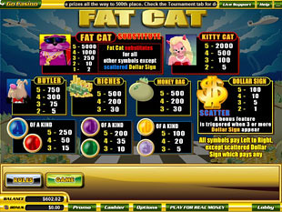 free Fat Cat slot mini symbol