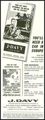 J Davy - 1953 (rchappo2002) Tags: uk england london vintage magazine advertising scotland fifties britain retro advertisement 1950s advert 50s 1953 adverts