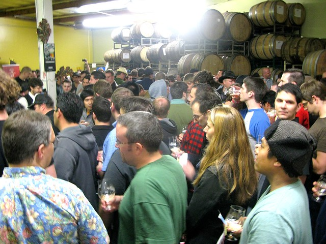 Thirsty throngs at the Bruery's Black Tuesday by Caroline on Crack