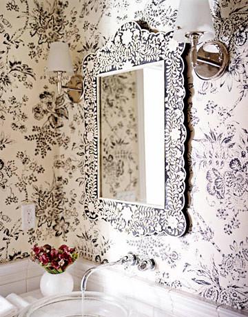 Зеркало инкрустированное костью