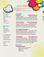 Nicole Fallek's Resume (Nicole Fallek: Photography) Tags: photoshop design graphicdesign illustrator resume indesign graphicdesignresume nicolefallek reneenicolephotography creativeresumedesign photographerresume