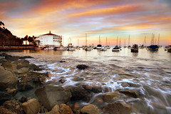 Catalina (Extra Medium) Tags: ocean longexposure sunset orange island catalina pacific casino avalon