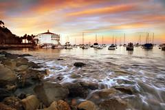 Catalina (Extra Medium) Tags: ocean longexposure sunset orange island catalina pacific casino avalon