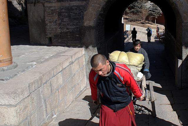 Labouring at Wu Tai Shan