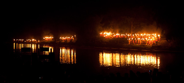 Torches across the water