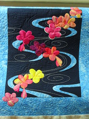 Plumeria floating on water (Jessica's Quilting Studio) Tags: mctavish