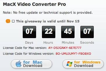 MacX Video Converter Pro - Convert HD Video SD Video for Mac OS X iPhone iPad iTunes