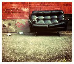 Tough guy (jamjar) Tags: collingwood melbourne camerabag iphone streetchair