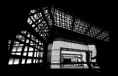 stairs floating in the dark (mario bellavite) Tags: bw japan lights tokyo design shadows darkness graphic abercrombie futuristic staird