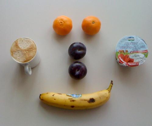 Weideglück Landjoghurt, Pflaumen, Banane & Clementinen
