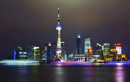 フリー写真素材, 建築・建造物, 都市・街, 高層ビル, 夜景, 中華人民共和国, 上海,