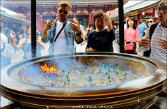 `2019 (roll the dice) Tags: japan japanese asia tokyo fareast mad sadstreetphotography natural people fun funny pasmo sushi yen urban smoke unaware unknown canon tourism tourists portrait candid strangers 浅草寺 asakusakannontemple pagoda sensōji taitō surreal streetphotography shinto guanyin incense burn divine culture mysterious fortune jokoro happy faith fashion hot weather classic art colour life 浅草 buddhist glasses ot