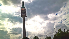 Television tower in Munich of Bavaria, Germany. July 3, 2017 (Aris Jansons) Tags: televisiontower building munich munchen television communications europe city germany deutschland architecture