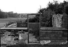 Doorway (JimmyBrandt) Tags: black white door doorway ruin ruins sweden sverige d7100 nikon