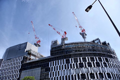 under construction, Umeda, Osaka (jtabn99) Tags: building skyscraper construction umeda japan nippon nihon osaka sky crane hankyu hanshin 20170701 大阪 阪神ビル 工事中 クレーン 揚重機 日本 梅田 大阪駅前