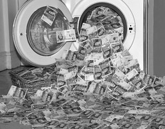 MONEY LAUNDERING By Angela Wilson (angelawilson2222) Tags: money laundering twenties mono black white bw washing art arty notes currency lawbreaking illegal nikon angela wilson