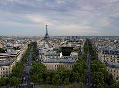 2016.05 - Paris, France (rambles_pl) Tags: paris france arc street city green clouds eiffel eiffeltower europe triumphal triumphalarch
