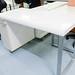 White gloss desk comes with storage E160