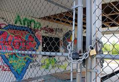 Wet & Wild (ashleyk.wiebe) Tags: lockport manitoba wetnwild skinners waterslides abandon waterpark graffiti locked gates