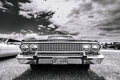 Impala (Nicholas Erwin) Tags: carshow champlainvalleyspringnationals chevrolet chevy impala automobile car classiccar musclecar antique vintage blackandwhite monochrome bw plattsburgh newyork ny unitedstatesofamerica usa nikon d610 1635f4vr fav10 fav25