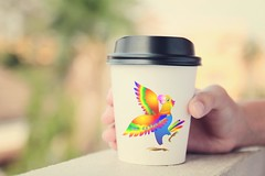 Hand holding take away coffee cup with retro filter effect (milangasam1) Tags: cup hand paper plastic takeaway outdoor closeup mocha cafe disposable take sweet coffee brown beverage vending drink bright latte cardboard portable brew hold female tea women espresso color convenience refreshment cappuccino background container single takeout hot blank mockup white retro filter effect vintage instagram pastel morning logo design graphic creative brand