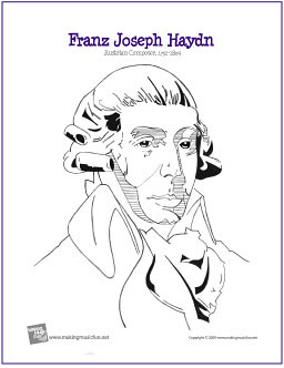 Free Printable Great Composer Coloring Pages - Associated Content