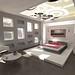 moderne minimalistische slaapkamer 1