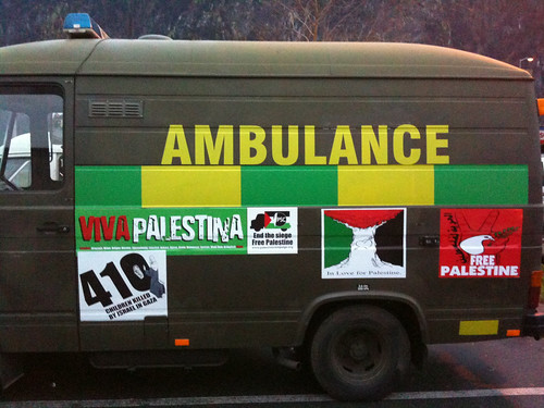 decorated ambulance