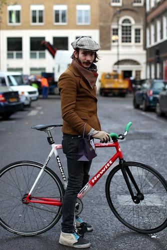 Sherlock Holmes on a bike