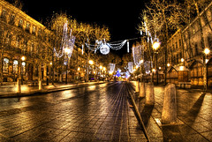 Aix en Provence - Cours Mirabeau (jojofotografia) Tags: city trip travel light vacation france color architecture night photography gold interestingness interesting nikon europa europe colore nightshot lumire perspective sigma 15 aixenprovence explore vista d200 veduta francia antico viaggio soe architettura hdr couleur luce aix franceimage citta villes prospettiva historique paesi angolo photomatix nikond200 supershot nikon200 frontepage