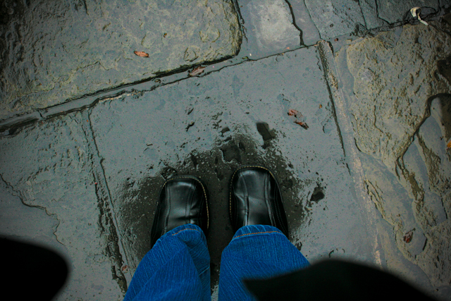 My Feet in Jackson Square