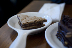 Cookie Sandwich with Tofu Cream-Peacefood Cafe""