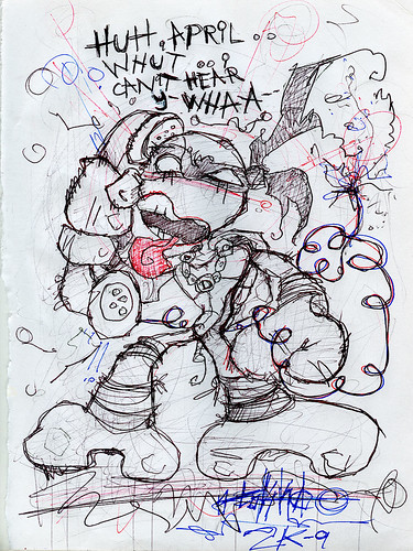 """terrible2z.com - """"TOKKA - ECKS """" Gallery Sketch :: Donnie T.'s Bad Connection"""