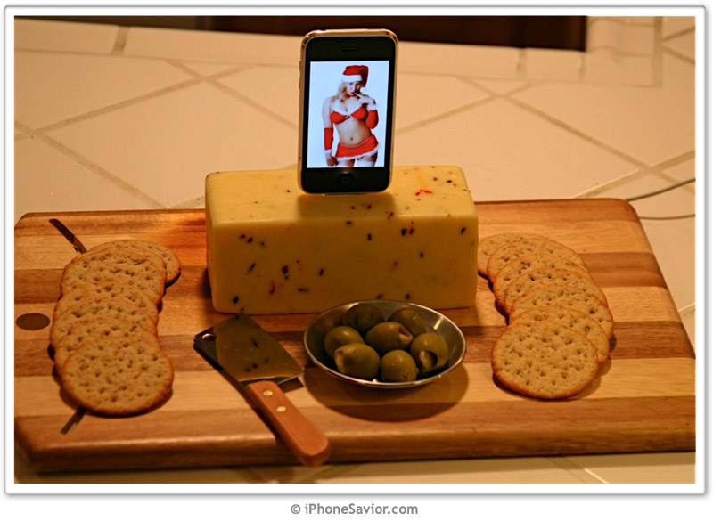 iPhone Santa Baby Cheese Dock