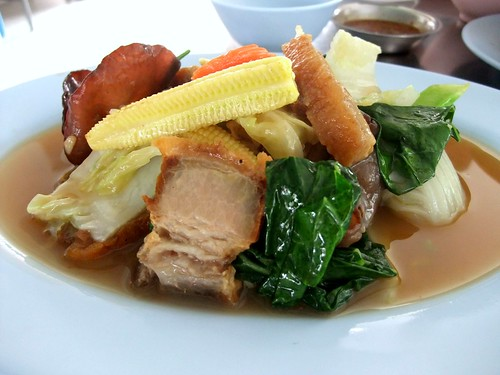 Stir-Fry Greens with Roast Pork
