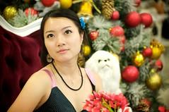 Apple (Hongphotos) Tags: christmas portrait girl asian model fullhouse 70300mm d700