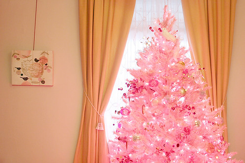 pink christmas tree - Pink Christmas Trees