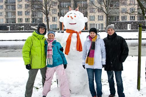 Snowman in Rotterdam!